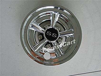 Image Unavailable. Image not available for. Color  4pcs 8   Golf Cart  Chrome Wheel Covers ... fc758539cdf9