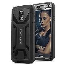Original eXtreme ARMOR Case w/ Screen Guard For Samsung Galaxy S5 - Black (Encased® Lifetime Warranty)