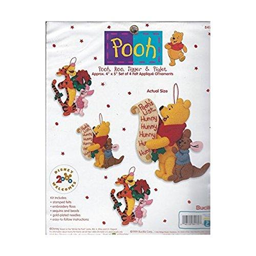 Pooh, Roo, Tigger & Piglet Felt Applique Ornaments Kit