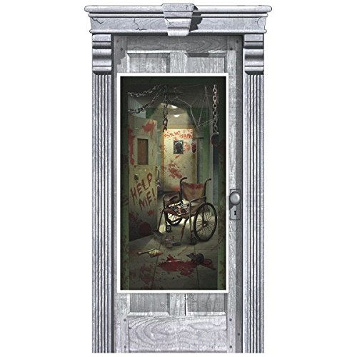 Asylum Door Cover | Halloween Decoration]()
