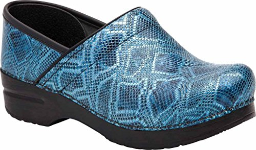 Dansko Professional Damen Rund Leder Schuhpflege Blue Python