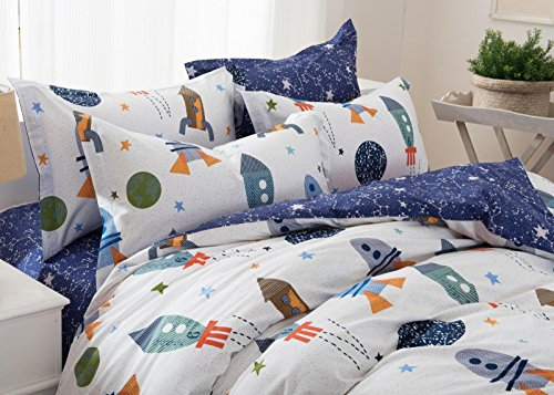 brandream boys galaxy space bedding set kids bedding set duvet cover full queen size buy. Black Bedroom Furniture Sets. Home Design Ideas