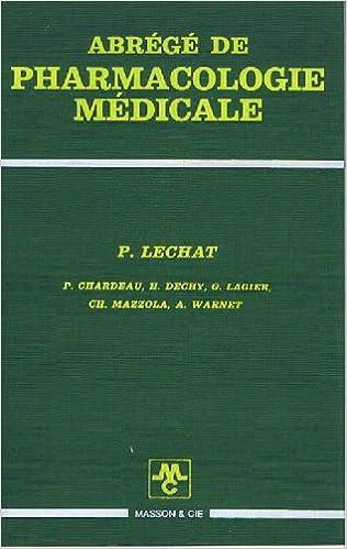 Livre gratuits Abrege de pharmacologie medicale pdf