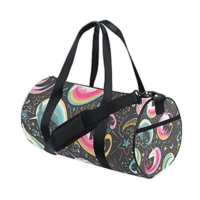 Travel Duffels Night Moon Unicorn Duffle Bag Luggage Sports Gym for Women /& Men