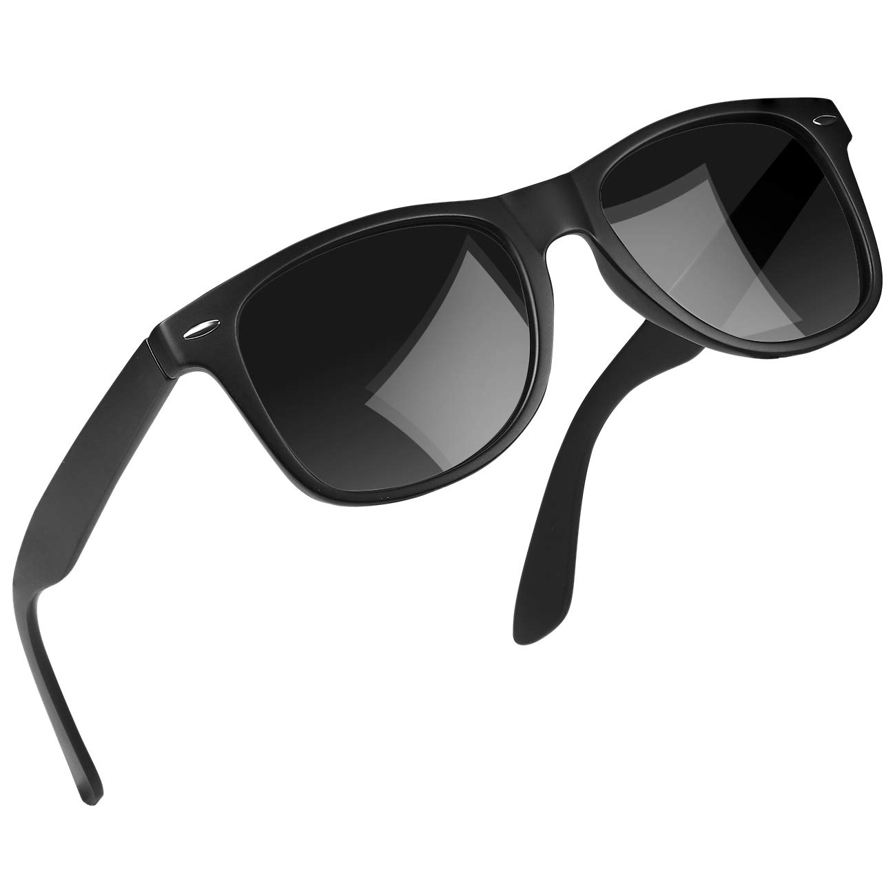 Joopin Polarized TR90 Unbreakable Sunglasses Classic Lightweight Sun glasses UV400 (TR90 Black)