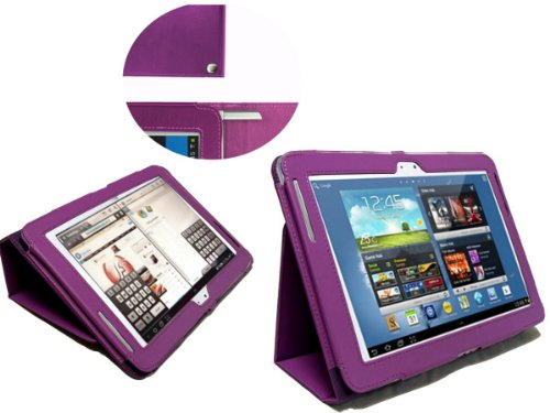 Navitech Purple Bycast Leather Carry Case Cover With Mult...