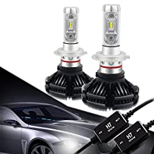 H7 LED Headlight Bulbs Conversion Kit CANBUS Error Free 3000K 6500K 8000K Free DIY PHI-ZES 12000LM/set Driving Fog Lights Replace Halogen Xenon HID Bulb +1Pair DECODER,1 Yr Warranty