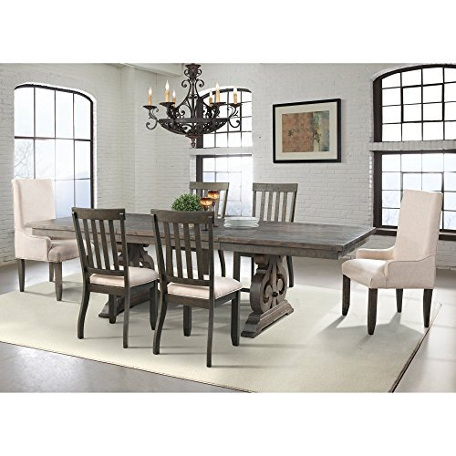 Picket House Furnishings Stanford 6 Piece Dining Set in Dark Ash