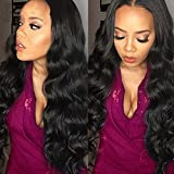 Belinda Hair 10-28inches Brazilian Body Wave Virgin Hair 3 Bundles, Grade 7A Unprocessed Human Hair Weave Hair Extensions Natural Color 95-100g/pc