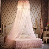 Ceiling Dome Court Mosquito Net/Round Hanging Princess Wind Mosquito Net/Simple,Fashion Student Dormitory Mosquito Nets/Elegant Double Mosquito Net-D E