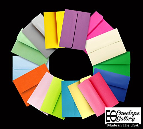 Assorted Multi Colors 100 Boxed A6 Envelopes for 4 1/2 X 6 1/4 Greeting Cards, Invitations Announcements - Astrobrights & More from The Envelope Gallery Photo #5