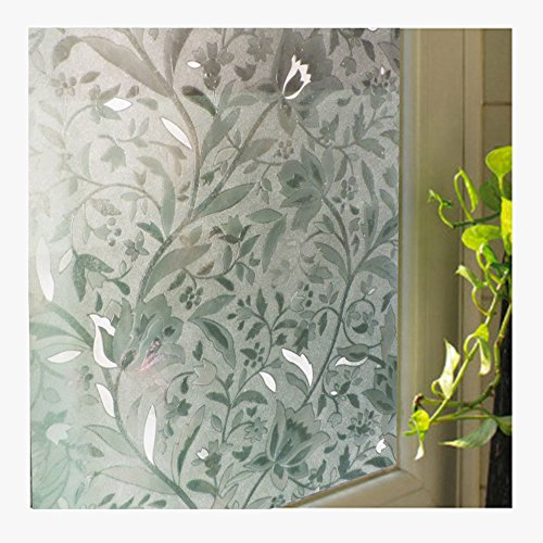 Window Blinds Window Film Electrostatic Film Kitchen Blinds Privacy Blinds Window Sticker Window Blinds No Glue Home Decoration for Windows Bathroom Office Glass Shading Sunscreen 17.7