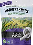 Cheap Harvest Snaps Green Pea Snack Crisps, Black Pepper, deliciously baked and crunchy veggie snacks with plant protein and fiber, 3.3-Ounce Bag (Pack of 12)