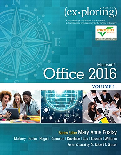 Exploring Microsoft Office 2016 Volume 1 (Exploring for Office 2016 Series) cover