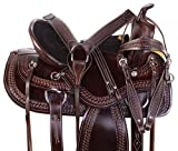 "AceRugs 15"" 16"" 17"" 18"" Amazingly Comfortable Memory Foam SEAT Western Leather Pleasure Trail Horse Saddle TACK Set"