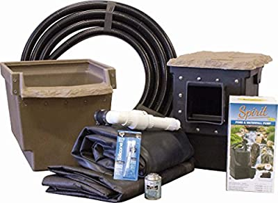 "EasyPro Pond Products ET811FB ""Do It Yourself Pond Made Easy"" Mini Backyard Pond Kit, 8' x 11'"