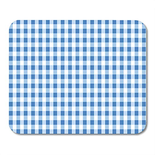 odger Blue Gingham Pattern from Rhombus Squares for Plaid Tablecloths Dresses Blankets Quilts Products Mouse pad 9.5