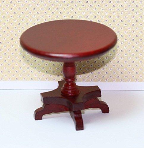 Dollhouse Miniature Mahogany Victorian Round Side Table -