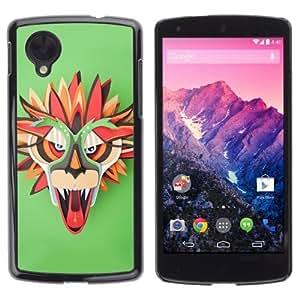 YOYOSHOP [Colorful Dragon Mask] LG Google Nexus 5 Case