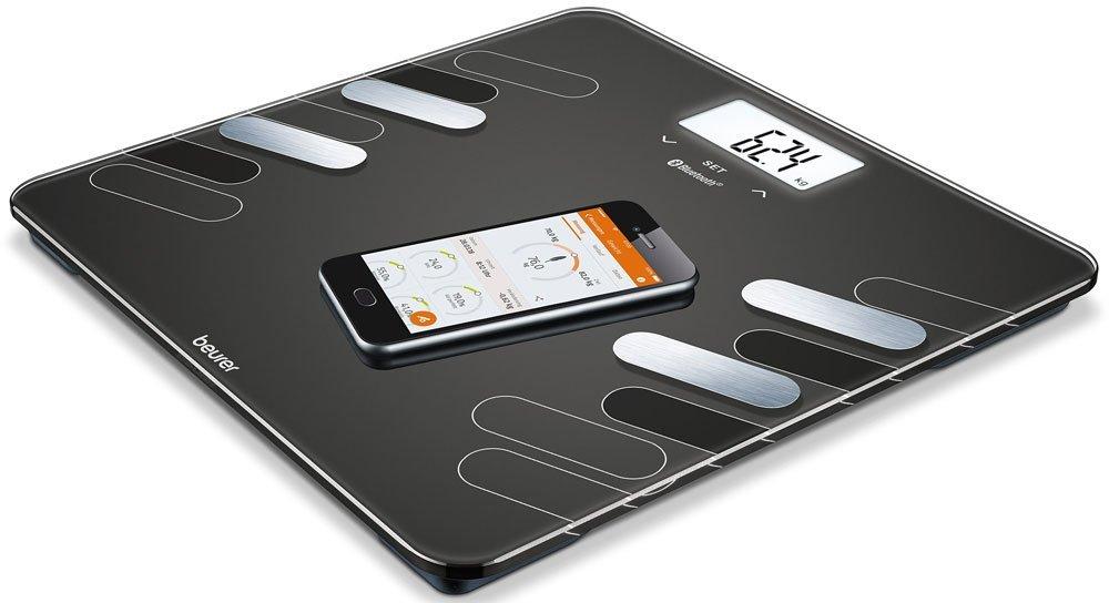lcd bianco Beurer BF 600 Pure White Bilancia Diagnostica con Connettivita Bluetooth