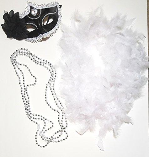Mardi Gras 5 Piece Set Costume Masquerade Halloween Venetian Masque Cosplay Mask