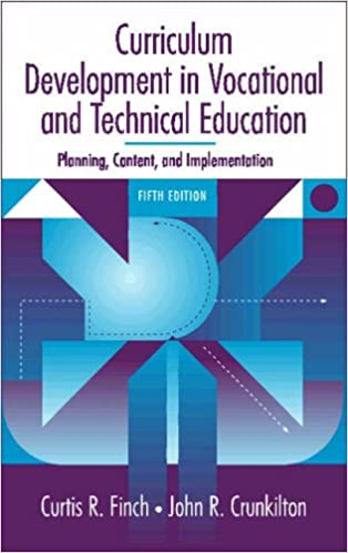 Curriculum Development in Vocational and Technical Education