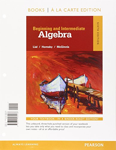 Beginning+Intermed.Algebra (Looseleaf)
