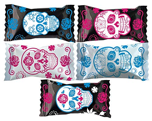 Party Sweets Day of the Dead Buttermints by Hospitality Mints, Appx 300 mints, 7-Ounce Bags (Pack of 6)]()