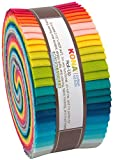 Elizabeth Hartman Kona Cotton Solids Designer Palette Series Roll Up 40 2.5-inch Strips
