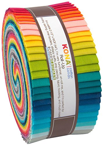 Elizabeth Hartman Kona Cotton Solids Designer Palette Series Roll Up 40 2.5-inch Strips (Office Supply Kona)