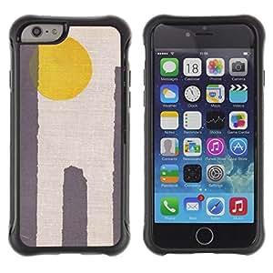 "Pulsar iFace Series Tpu silicona Carcasa Funda Case para Apple iPhone 6+ Plus(5.5 inches) , Sun Amarillo Gris minimalista Desierto"""