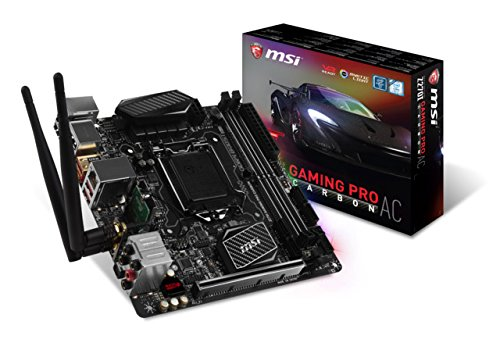MSI Performance Gaming Intel Z270 DDR4 HDMI USB 3 mini-ITX Motherboard (Z270I...
