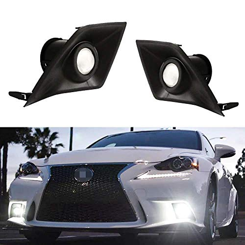iJDMTOY 70-600-White 6000K Xenon White High Power LED Projector Lens Fog Light F-Sport for 2014 2015 2016 Lexus IS200t IS250 IS300 IS350 (Accessories Is250)
