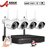 ANRAN 1080P 4 CH Wireless Security Camera System with 4 Outdoor 1080P 60ft Night vision HD WIFI IP CCTV Camera 2TB Hard Drive Pre-installed Review