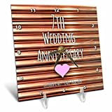 3dRose dc_154436_1 7Th Wedding Copper Celebrating 7 Years Together Seventh Anniversaries Seven Desk Clock, 6 by 6-Inch