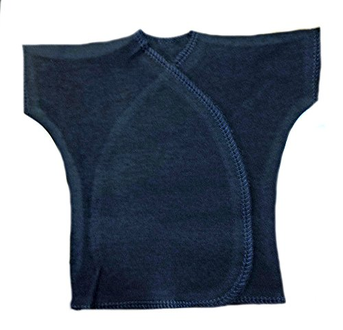 Jacqui's Unisex Baby Navy Blue Short Sleeve Kimono T- Shirt, 0-3 - Short Kimono Tee Sleeve