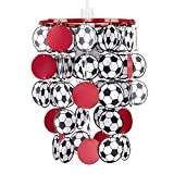MiniSun - Boys Red United Football Bedroom/Nursery Ceiling Pendant Light Shade