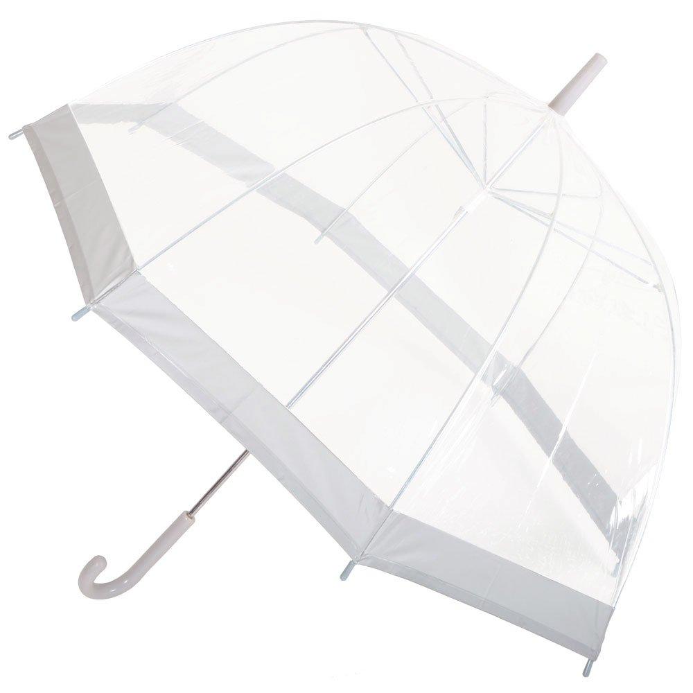 Drizzles - Ombrello con volta trasparente, donna, bordo in colori assortiti KS Brands VDTAZ012B