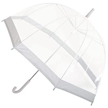 1c95b225d3a9 Drizzles Ladies Clear Dome Umbrella Brolly assorted colour Trim