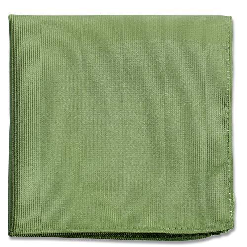 (Sage Green Pocket Squares For Men - Mens Woven Pocket Square Tuxedo Wedding Solid Color Formal)