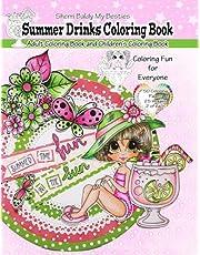 Sherri Baldy My Besties Summer Drinks Coloring Book: Adult Coloring Book and Children's Coloring Book