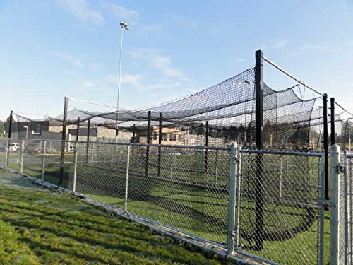 70'x14'x12' HDPE #42 Baseball Softball Batting Cage White Topped MLB Cage 60ply by Pelican Sports