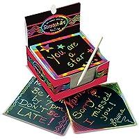 Melissa & Doug–Arco Iris Mini Scratch Art Notas (Caja de 125) Tej