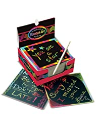 Melissa & Doug Scratch Art Rainbow Mini Notes (125 ct) With W...