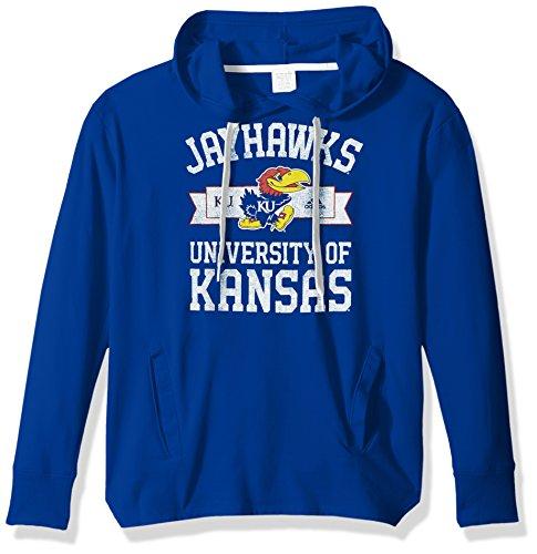 - adidas NCAA Kansas Jayhawks Adult Women Mascot Banner Arch Fleece Hood, Medium, Collegiate Royal
