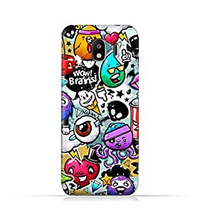 AMC Design Samsung Galaxy J4 2018 TPU Silicone Protective Case with Bizzare Charecters