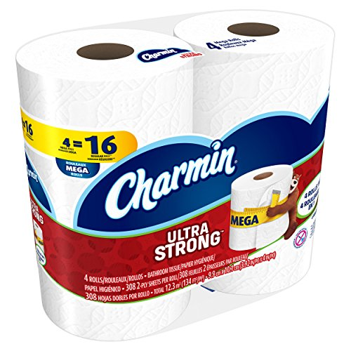 51NRBtxVu%2BL - Charmin Ultra Strong Toilet Paper, Mega Roll, 24 Count (Packaging May Vary)