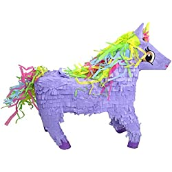 Pinatas Unicorn with Rainbow Mane, Purple