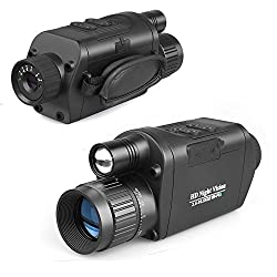 Bestguarder NV-500 3.5X32mm Wi-Fi Wireless HD Digital Infrared Night Vision Hunting Monocular/Scope with Camera, Black