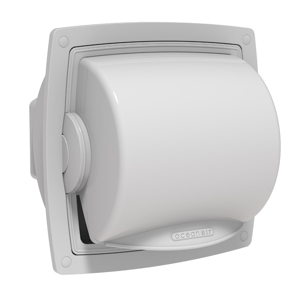 White DR-W-RP Oceanair Marine Dryroll Protective Toilet Roll Dispenser From Oceanair